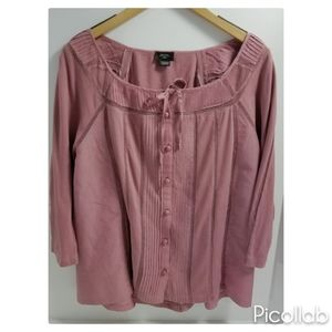 Anthropologie Deletta Mauve Top